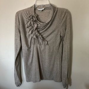 CAbi Ruched Long Sleeve Top